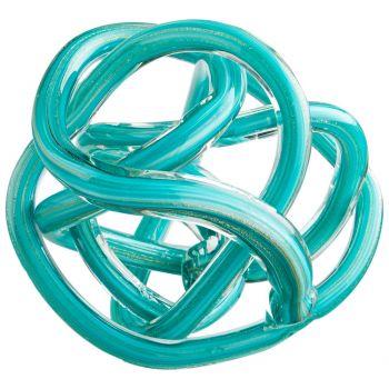 "Cyan Design Sculpture 5.25"" Glass Tangle Home Decor Filler in Teal"