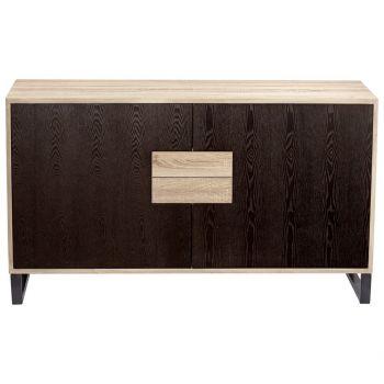 """Cyan Design Miles 55.5"""" Wood Cabinet in Oak Veneer"""