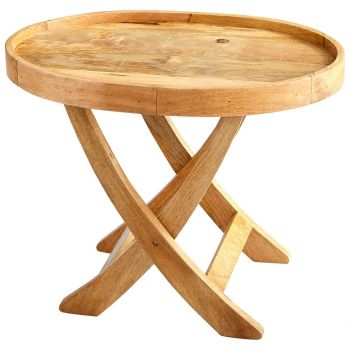 """Cyan Design Rustica 30"""" Wood Tray Table in Natural"""