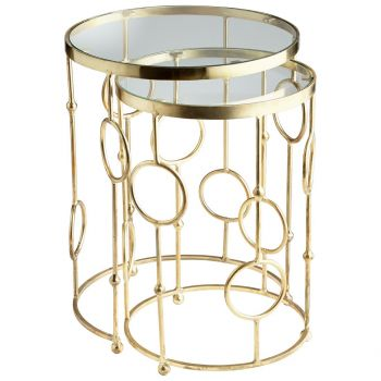 Cyan Design Perseus Nesting Tables in Brass (Set of 2)