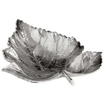 "Cyan Design Maple 17"" Tray in Textured Nickel"