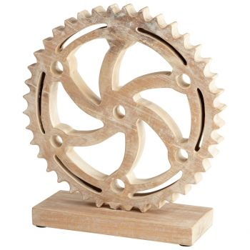 "Cyan Design Rottari 15.75"" Sculpture in Bleached Reclaimed Wood"