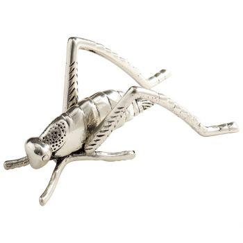 "Cyan Design Grasshopper 3"" Sculpture in Antique Silver"