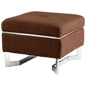 "Cyan Design Stokely 22.5"" Ottoman in Bronze"