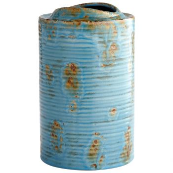 "Cyan Design Brussels 12"" Planter in Blue Glaze"
