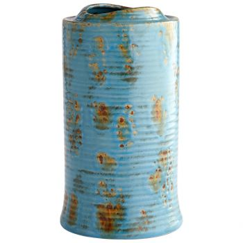 "Cyan Design Brussels 14"" Planter in Blue Glaze"