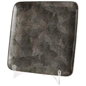 "Cyan Design Mamba 13.25"" Ceramic Tray in Gray"