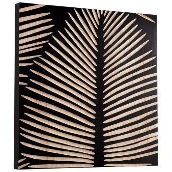 "Cyan Design Aruba 23.75"" Wood Wall Art in Black"