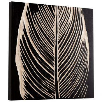 "Cyan Design Pompano 23.75"" Wood Wall Art in Black"