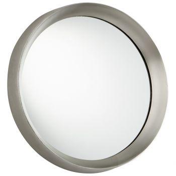 "Cyan Design Glossy Boss 16.75"" Mirror in Matt Nickel"