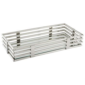 """Cyan Design Layers Of Meaning 20.75"""" Tray in Stainless Steel"""
