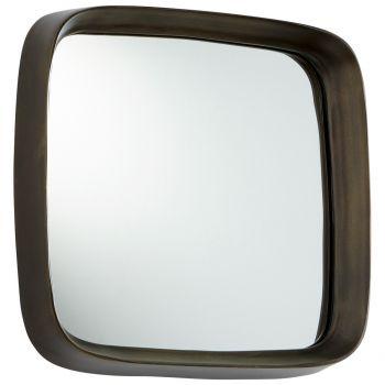 """Cyan Design Square'd 13.75"""" Mirror in Vintage Brass"""