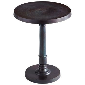 "Cyan Design Emerson 22.75"" Table in Bronze/Blue"
