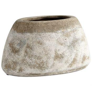 "Cyan Design Stoney 8.25"" Planter in Ash Stone"