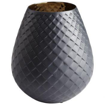 """Cyan Design Pinapod 11"""" Ceramic Vase in Gold/Black"""