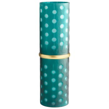 "Cyan Design Cascade Parade 21.5"" Vase in Green"