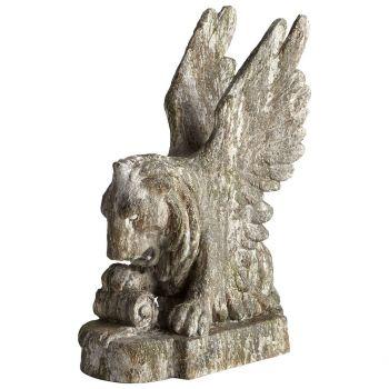 "Cyan Design Lion Heart 30"" Sculpture in Rustic Verde"