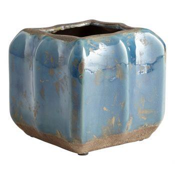 "Cyan Design Redondo 5.5"" Planter in Blue Glaze"