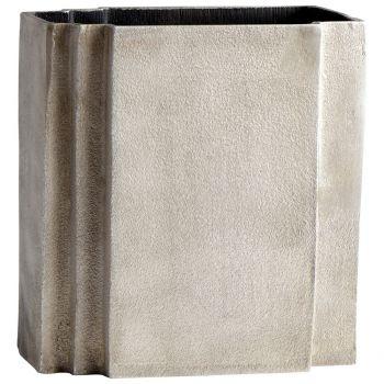"Cyan Design Skyscraper 8.25"" Aluminum Vase in Gray"