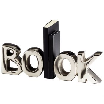 "Cyan Design The Book 7"" Bookends in Nickel"