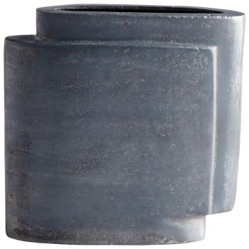 "Cyan Design A Step Up 8.75"" Vase in Zinc"