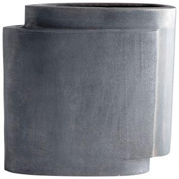 """Cyan Design A Step Up 11.75"""" Vase in Zinc"""