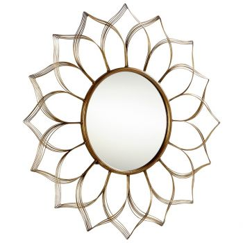 """Cyan Design Blooming Beauty 10.25"""" Mirror in Aged Gold"""