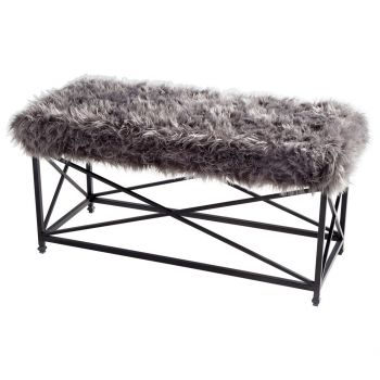 "Cyan Design Ushanka 43"" Bench in Graphite/Gray"