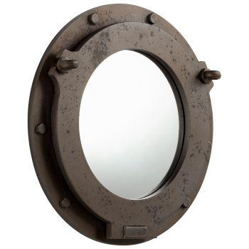 "Cyan Design Industrial Ore 19"" Mirror in Brown"