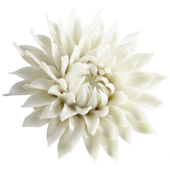 """Cyan Design Blossoming Spring 3.5"""" Wall Decor in Off White Glaze"""