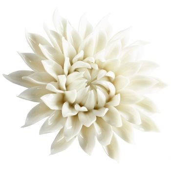 """Cyan Design Blossoming Spring 4.25"""" Wall Decor in Off White Glaze"""