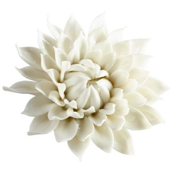 """Cyan Design Blossoming Spring 5.5"""" Wall Decor in Off White Glaze"""