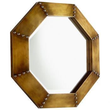 """Cyan Design Octagon 19"""" Mirror in Gold"""