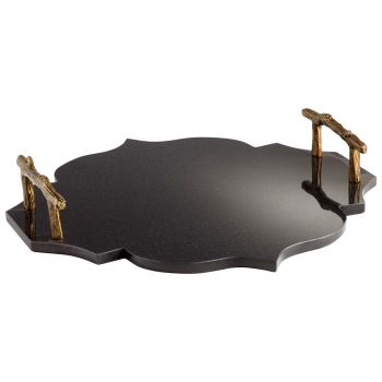 Cyan Design Highland Crest Tray in Gold And Black