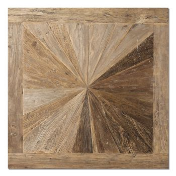 """Uttermost Hoyt 42"""" Wall Panel in Natural Elm Wood"""