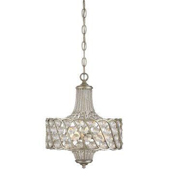 "Savoy House Mini Chandelier 12.5"" 3-Light Mini Chandelier in Silver Lace"