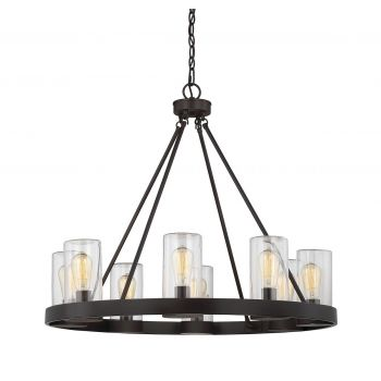 Savoy House Inman 8-Light Outdoor Chandelier in English Bronze
