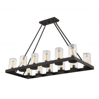 Savoy House Inman 12-Light Outdoor Chandelier in English Bronze