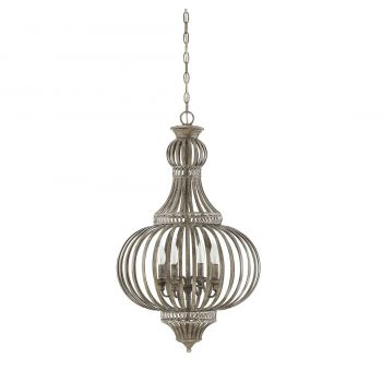 "Savoy House Ashford 19"" 4-Light Chandelier in Aged Wood"