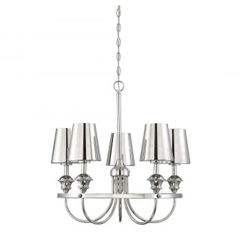 "Savoy House Arden 26.75"" 5-Light Pendant in Polished Chrome"