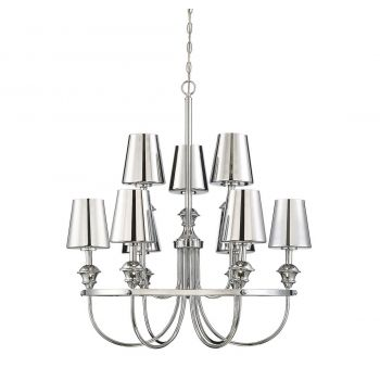 "Savoy House Arden 32.25"" 9-Light Pendant in Polished Chrome"