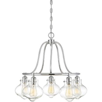 """Savoy House Allman 24.75"""" 5-Light Chandelier in Polished Chrome"""