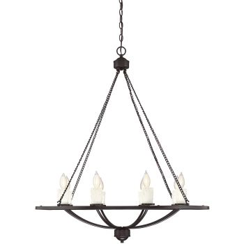 "Savoy House Hampshire 34"" 8-Light Chandelier in English Bronze"