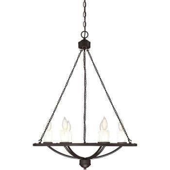 "Savoy House Hampshire 26"" 6-Light Chandelier in English Bronze"