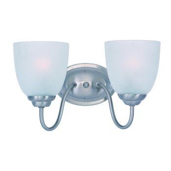 Maxim Lighting Stefan 2-Light Bath Vanity in Satin Nickel