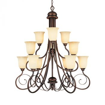 Millennium Lighting Chateau 12-Light Chandelier in Rubbed Bronze