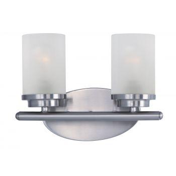 Maxim Lighting Corona 2-Light Bath Vanity in Satin Nickel