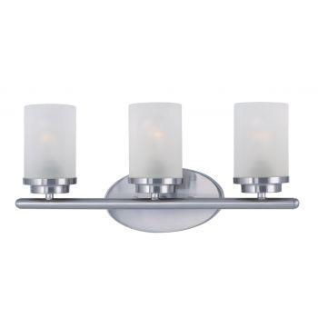 Maxim Lighting Corona 3-Light Bath Vanity in Satin Nickel