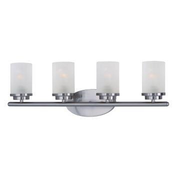 Maxim Lighting Corona 4-Light Bath Vanity in Satin Nickel