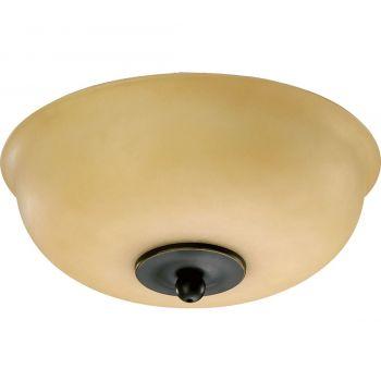 """Quorum Kit 10"""" 2-Light Ceiling Fan Light Kit in Old World"""